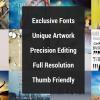 Over , Aplikasi Edit Foto dan Fonts Inovatif yang Menyenangkan