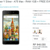 Hp Android 5 inch 800 Ribuan – Evercoss Winner Y Silver A75 Max