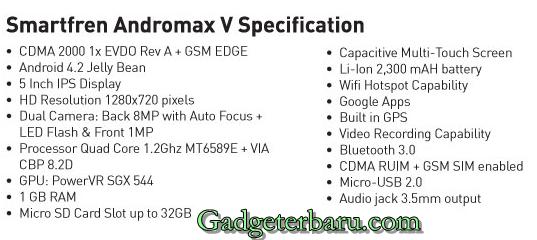spesifikasi Andromax V