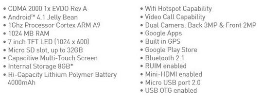 spesifikasi NEW Smartfren Andromax Tab 7.0