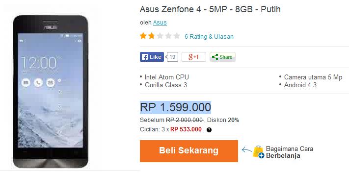 ASUS Zenfone 4 new