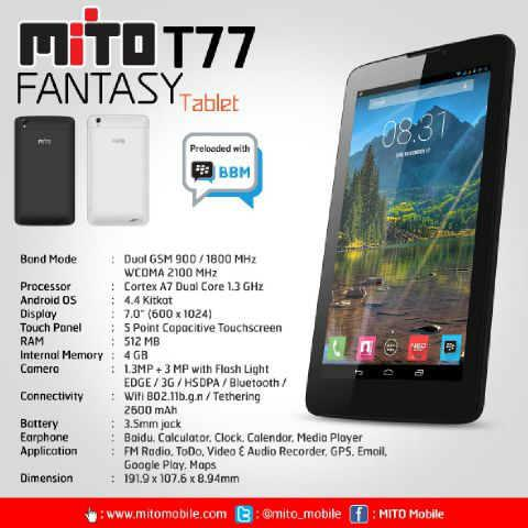 Mito Fantasy Tablet T77 gambar itsuperstore.mdp.co.id