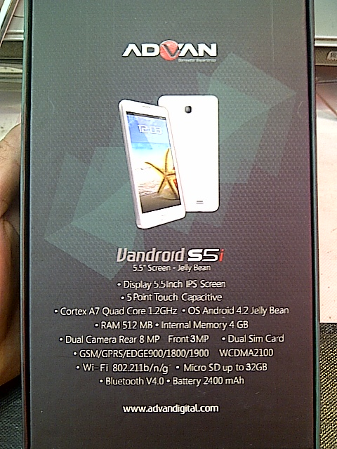 Advan Vandroid S5i Kredit gambar tokopedia.net