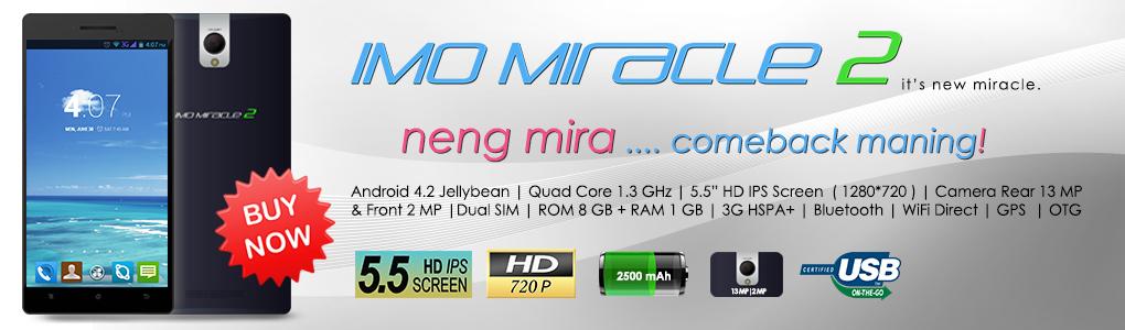 IMO Miracle 2 kredit gambar ponselimo.com