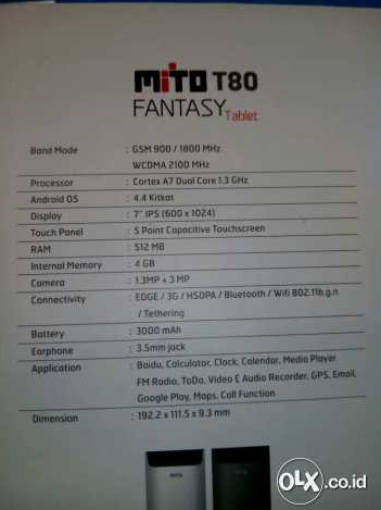 Mito T80 Fantasy Kredit gambar Olx.co.id