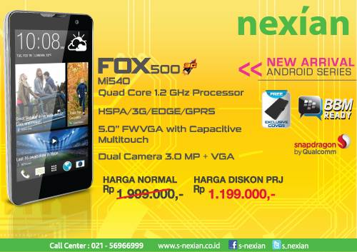 Nexian Fox 500 Mi540 kridit gambar nexian.co.id