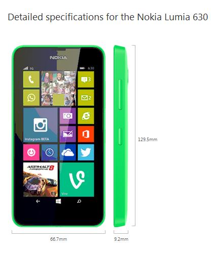 Nokia Lumia 630 Kredit Gambar nokia.com