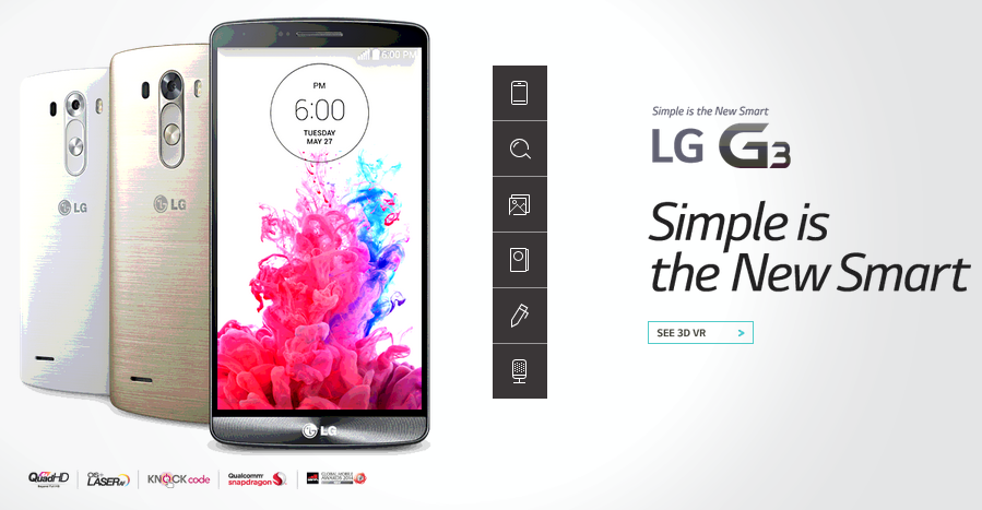 LG G3 Kredit gambar lg.com