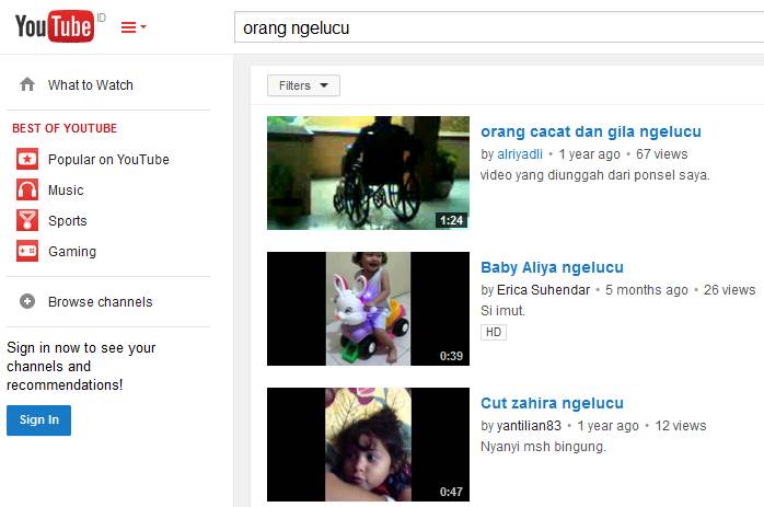 sekilas tampilan youtube cridit imege youtube.com