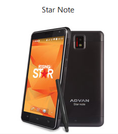 Advan Star Note cridit imege advandigital.com