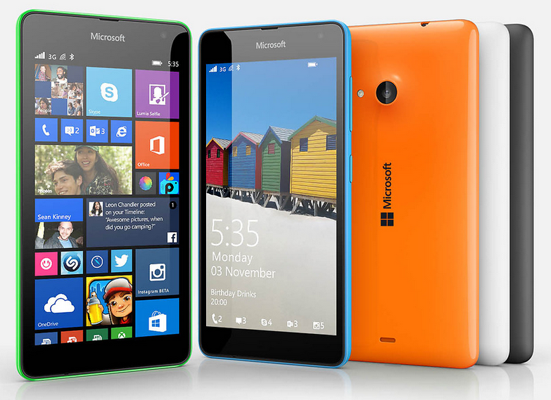 Microsoft Lumia 535 Cridit imege microsoft.com
