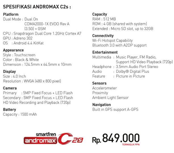 Andromax C2s 2015