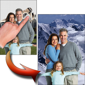 Aplikasi merubah Background foto