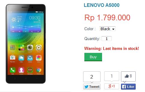 Lenovo A5000 harga 2015