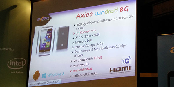 axio Windroid 8G