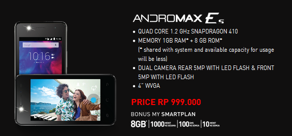 Smartfren Andromax Es,Android Smartfren Terbaru 4G LTE 1 Jutaan