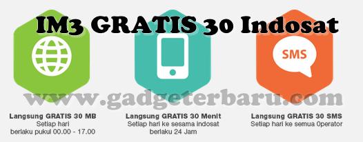 Indosat IM3 Gratis 30