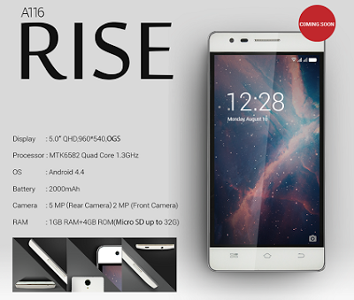 ponsel android Coolpad Rise A116