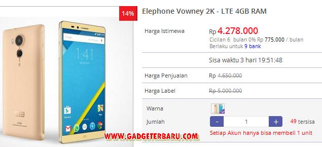 Elephone Vowney harga