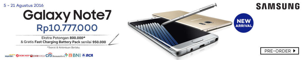 Harga Phablet Samsung Galaxy Note 7