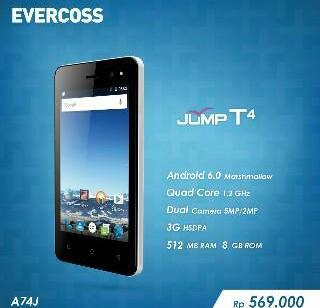 harga Evercoss A74J Jump T4