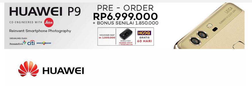 Huawei P9 harga