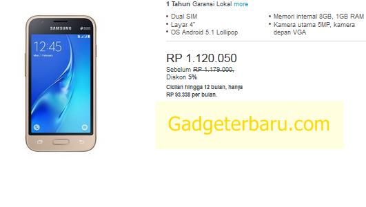 Samsung Galaxy J1 Mini Prime harga
